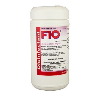 F10 Disinfectant Wipes x 100