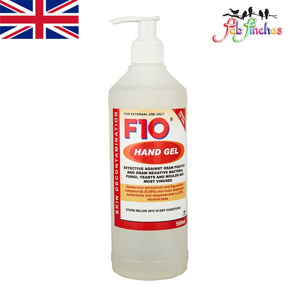 F10 Hand Gel 500ml - a waterless skin decontaminant, Has the rapid kill  times and spectrum of F10SC and is completely safe and non-irritant ✔ IN