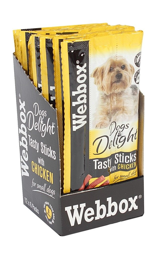 6ecd4b383f3a86 Webbox Dogs Delight CHICKEN Sticks Dog Treats For Small Breeds Pack of 6